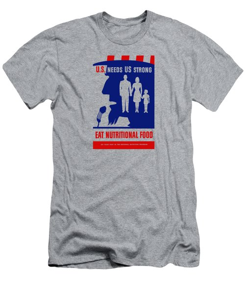 Uncle Sam - Eat Nutritional Food Men's T-Shirt (Athletic Fit)