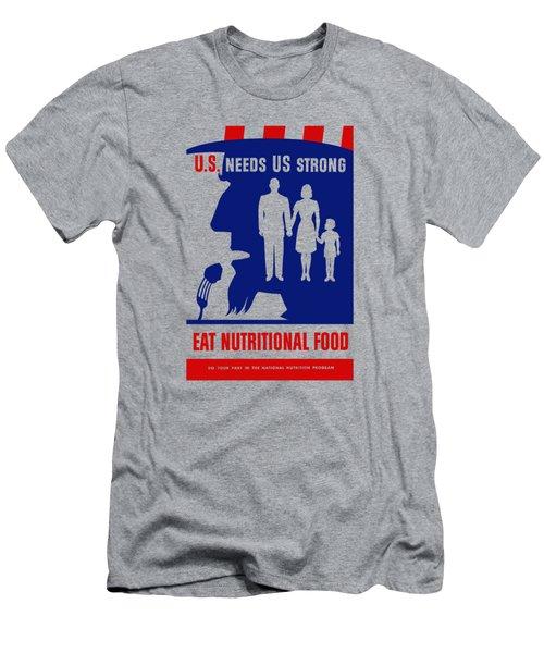 Uncle Sam - Eat Nutritional Food Men's T-Shirt (Athletic Fit)