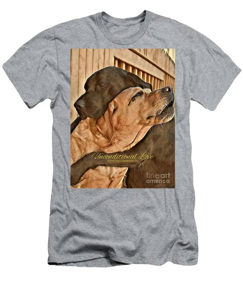 Men's T-Shirt (Athletic Fit) featuring the digital art Unconditional Love by Kathy Tarochione