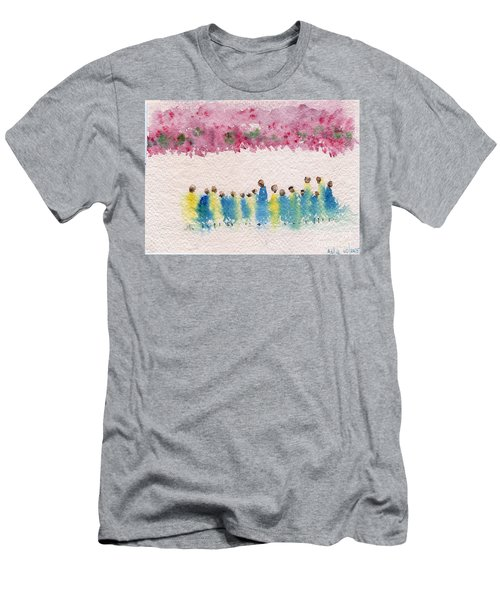 Under The Canopy Of Cherry Blossoms Men's T-Shirt (Athletic Fit)