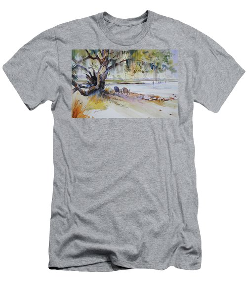 Under The Live Oak Men's T-Shirt (Slim Fit) by P Anthony Visco