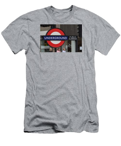 Underground Sign London Men's T-Shirt (Athletic Fit)