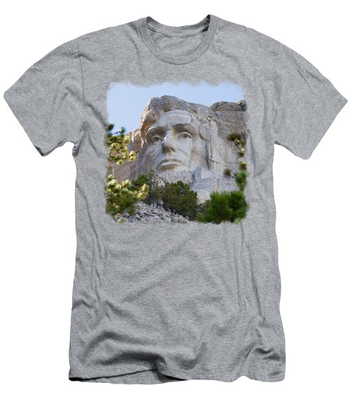 Unfinished Lincoln 3 Men's T-Shirt (Slim Fit) by John M Bailey