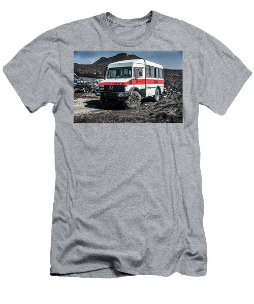 Unimog On Mt. Etna Men's T-Shirt (Slim Fit) by Patrick Boening