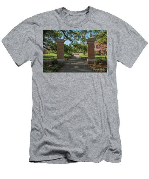Men's T-Shirt (Slim Fit) featuring the photograph University And Johnston Entrance by Gregory Daley  PPSA
