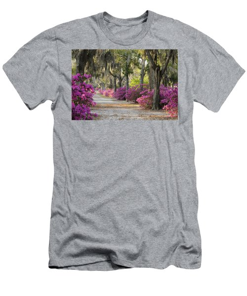 Unpaved Road With Azaleas And Oaks Men's T-Shirt (Athletic Fit)