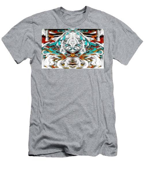 Men's T-Shirt (Athletic Fit) featuring the digital art 992.042212mirrorornategoldvert-2-c by Kris Haas