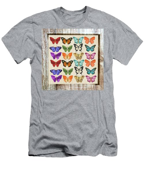 Colourful Butterflies Collage Men's T-Shirt (Athletic Fit)
