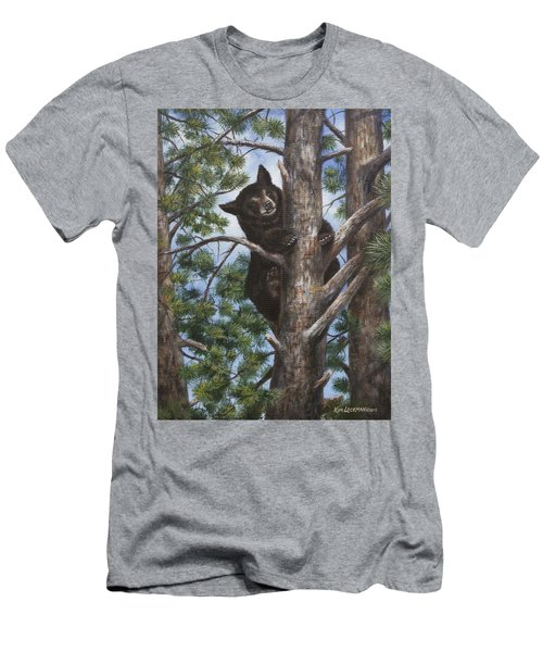 Men's T-Shirt (Slim Fit) featuring the painting Up A Tree by Kim Lockman