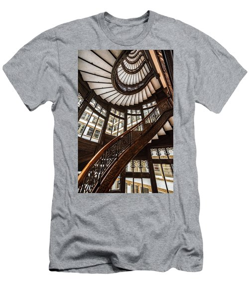 Up The Iconic Rookery Building Staircase Men's T-Shirt (Athletic Fit)