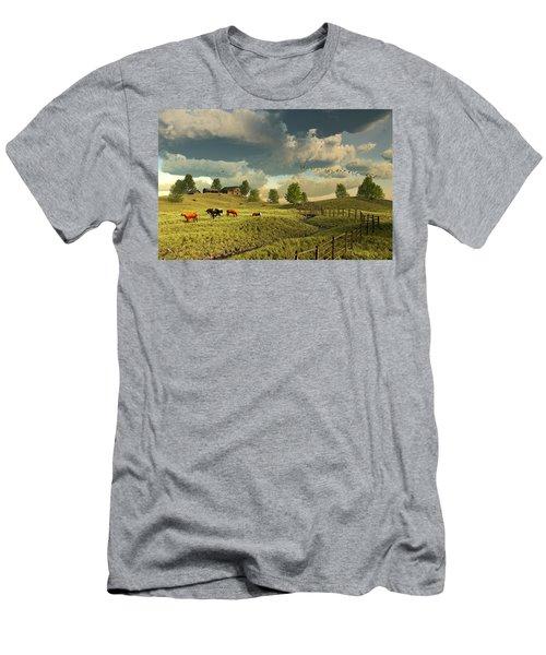 Upon The Rural Seas Men's T-Shirt (Athletic Fit)