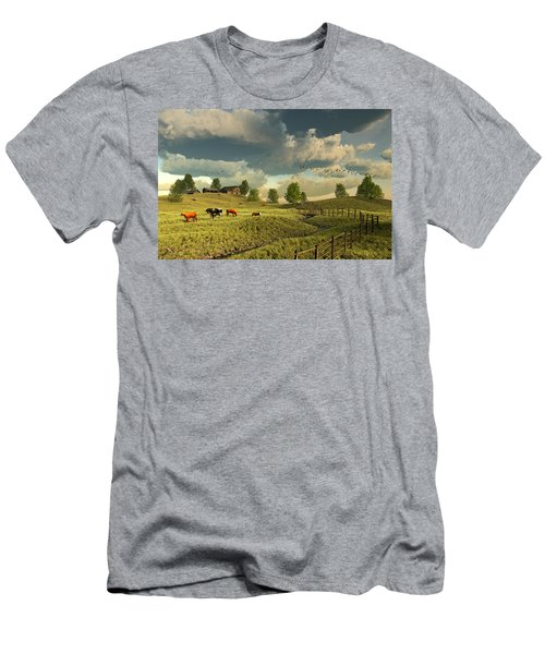 Upon The Rural Seas Men's T-Shirt (Athletic Fit)
