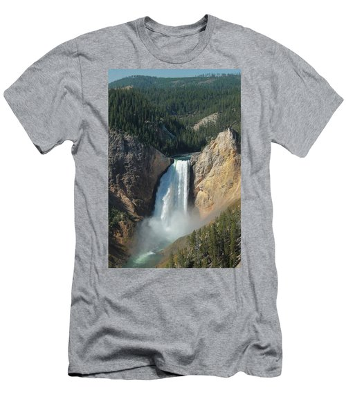 Upper Falls, Yellowstone River Men's T-Shirt (Athletic Fit)