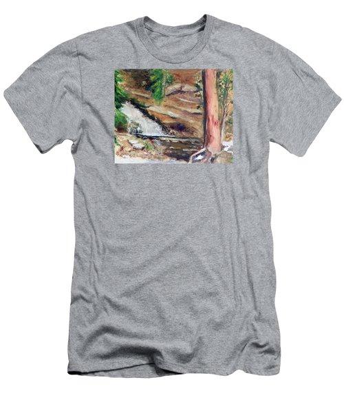 Upper Provo River Falls Men's T-Shirt (Slim Fit) by Sherril Porter
