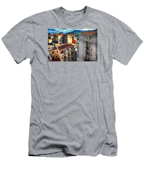Urban Landscape In Palermo Men's T-Shirt (Athletic Fit)