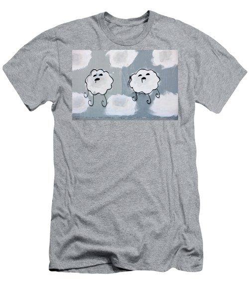 Men's T-Shirt (Slim Fit) featuring the photograph Urban Rain Clouds by Art Block Collections
