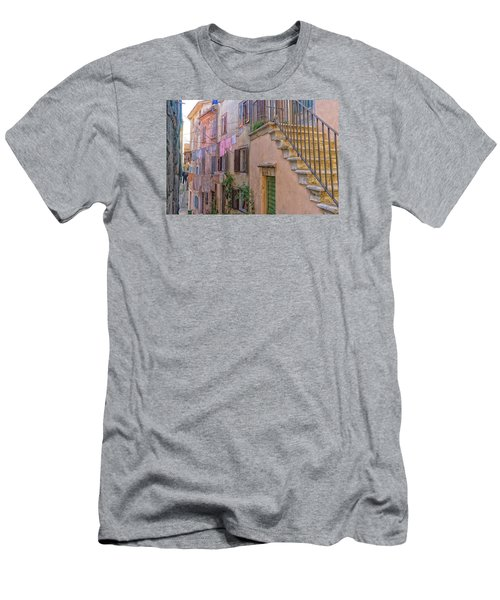 Urban View With Laundary Men's T-Shirt (Slim Fit) by Uri Baruch