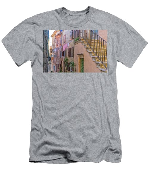 Urban View With Laundary Men's T-Shirt (Athletic Fit)