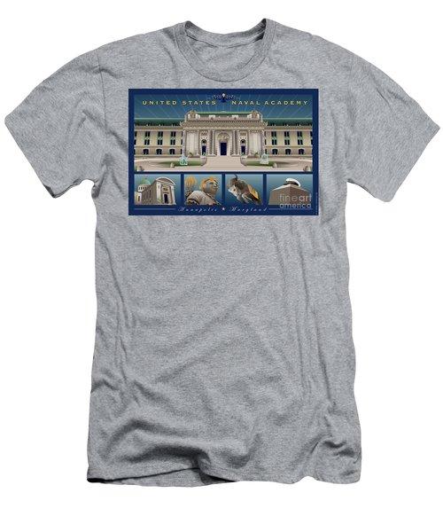 Usna Monuments Tribute 2 Men's T-Shirt (Athletic Fit)