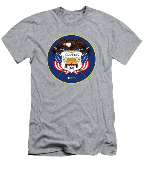 Utah State Flag Authentic Version Men's T-Shirt (Athletic Fit)