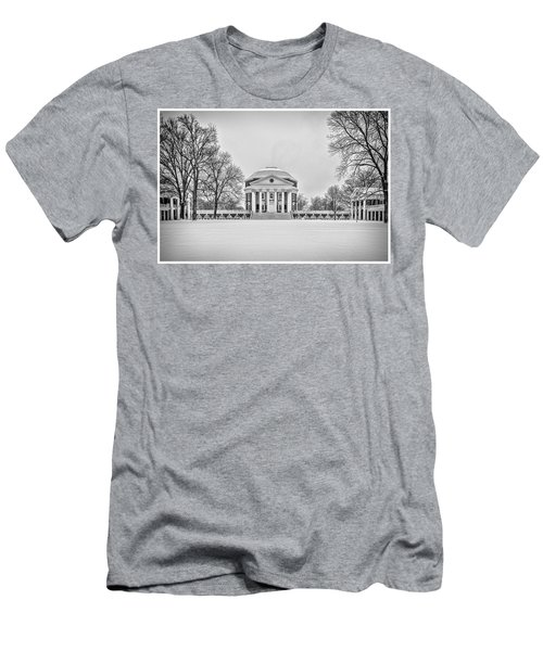 Men's T-Shirt (Athletic Fit) featuring the photograph Uva Rotunda Winter 2016 by Kevin Blackburn