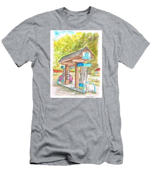 Valero Gas Station In Big Sur, California Men's T-Shirt (Athletic Fit)