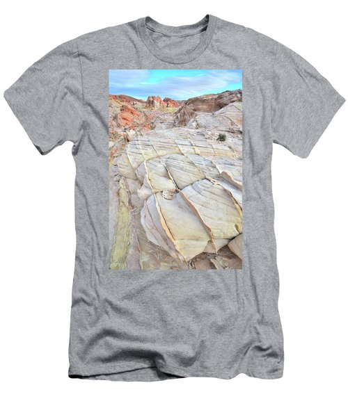 Valley Of Fire Sandstone Men's T-Shirt (Slim Fit) by Ray Mathis