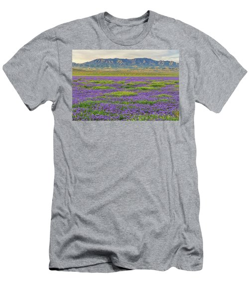 Valley Phacelia And Caliente Range Men's T-Shirt (Slim Fit) by Marc Crumpler