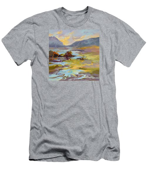 Men's T-Shirt (Slim Fit) featuring the painting Valley Vantage Point by Rae Andrews