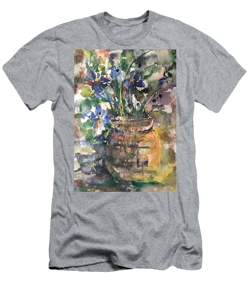 Vase Of Many Colors Men's T-Shirt (Slim Fit) by Robin Miller-Bookhout