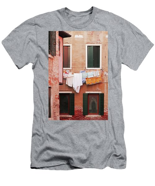 Venetian Laundry In Peach And Pink Men's T-Shirt (Athletic Fit)