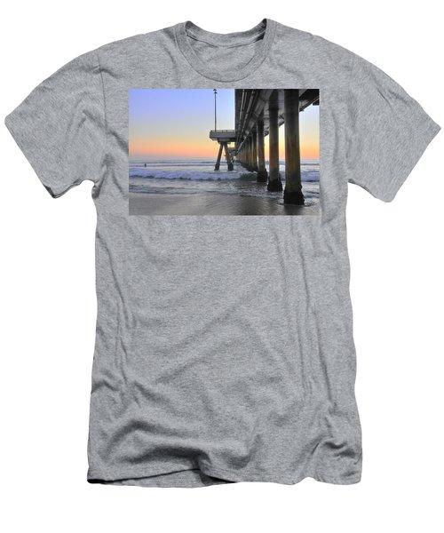 Venice Beach Pier Sunset Men's T-Shirt (Athletic Fit)