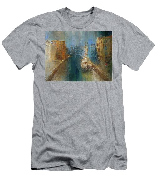 Venice Blue And Yellow Men's T-Shirt (Athletic Fit)