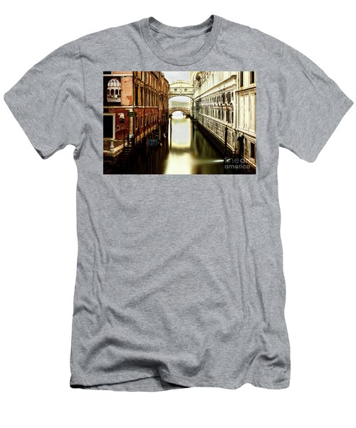 Men's T-Shirt (Athletic Fit) featuring the photograph Venice Bridge Of Sighs by Miles Whittingham