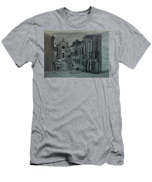 Venice In Grey And White Men's T-Shirt (Slim Fit) by Rod Jellison