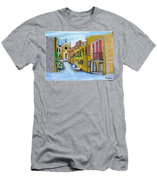 Venice In September Men's T-Shirt (Slim Fit) by Rod Jellison