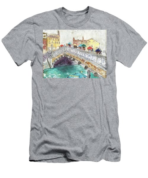 Venice In The Rain Men's T-Shirt (Slim Fit) by Barbara Anna Knauf