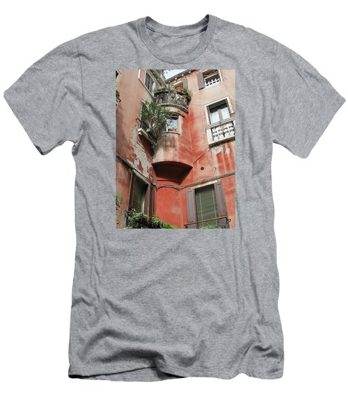 Venice Italy Street Men's T-Shirt (Slim Fit) by Lisa Boyd