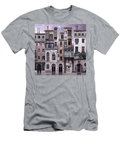 Venice Reconstruction 1 Men's T-Shirt (Slim Fit) by Joan Ladendorf