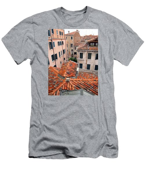 Venice Roof Tiles Men's T-Shirt (Slim Fit) by Lisa Boyd