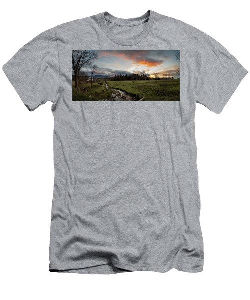 Vermont Sunset Men's T-Shirt (Athletic Fit)