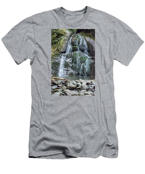 Vermont Waterfall Men's T-Shirt (Athletic Fit)