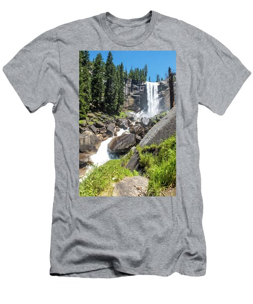 Vernal Falls- Men's T-Shirt (Athletic Fit)