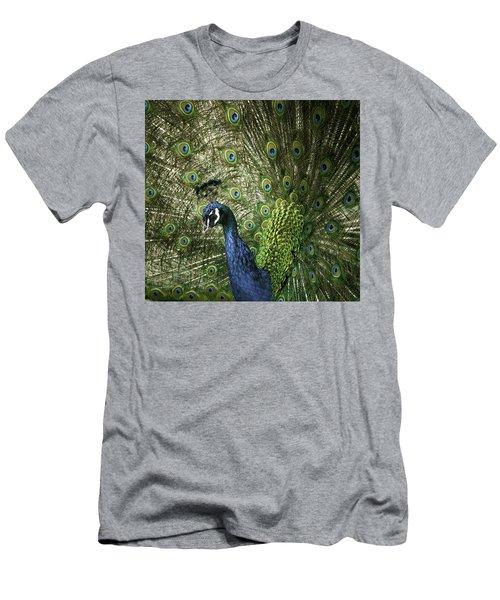 Vibrant Peacock Men's T-Shirt (Slim Fit) by Jason Moynihan