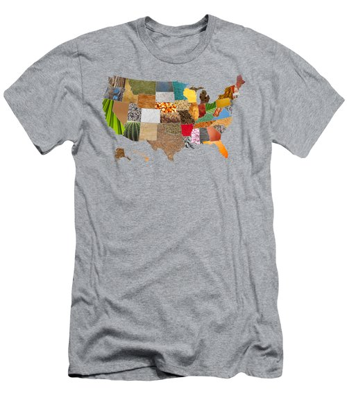 Vibrant Textures Of The United States Men's T-Shirt (Slim Fit) by Design Turnpike
