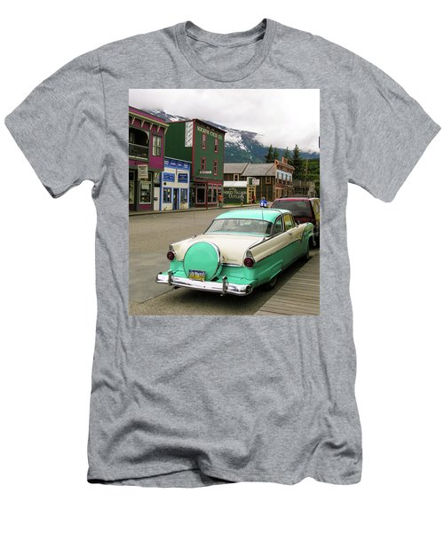 Vicky In Skagway Men's T-Shirt (Slim Fit) by Jim Mathis