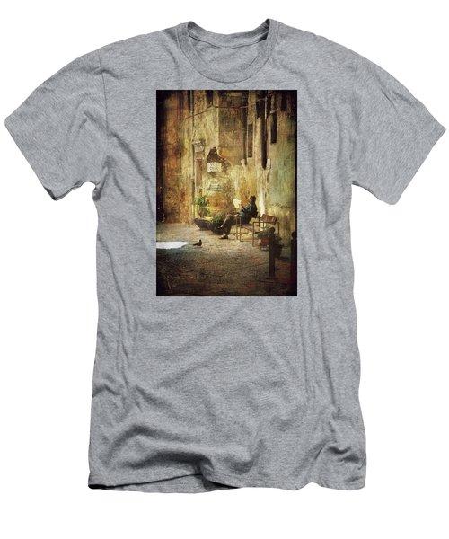Vicolo Chiuso   Closed Alley Men's T-Shirt (Slim Fit) by Vittorio Chiampan