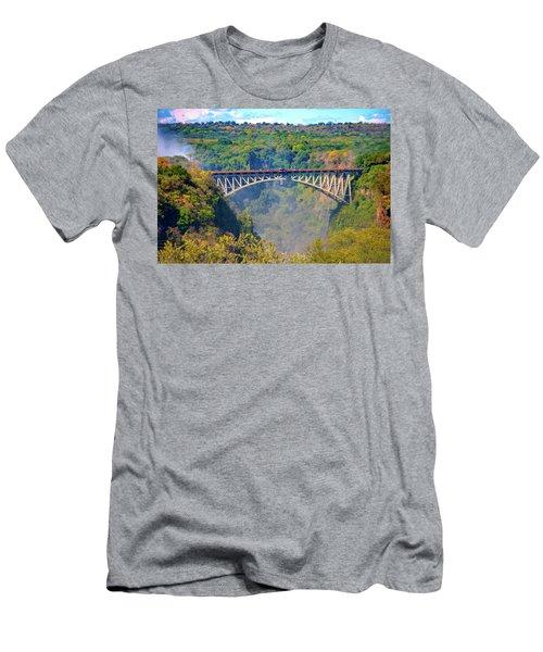 Victoria Falls Bridge Men's T-Shirt (Athletic Fit)