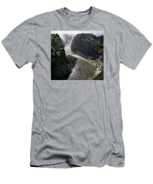 Victoria Falls Men's T-Shirt (Slim Fit) by Joe Bonita