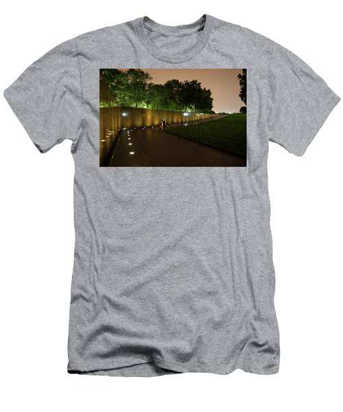 Vietnam Memorial By Night Men's T-Shirt (Athletic Fit)